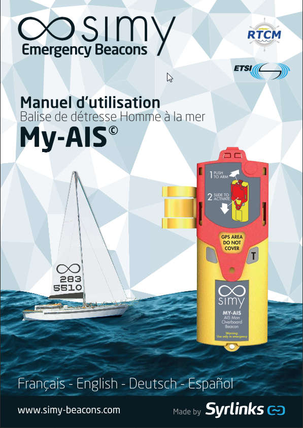 simy my-ais user guide, marine emrgency beacon, life jacket fitting