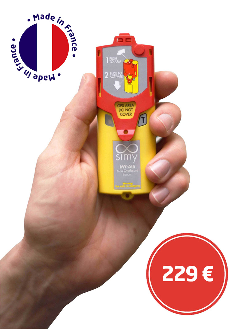 my-ais, simy, small marine emergency beacon, sailing, yachting, nautism, life jacket