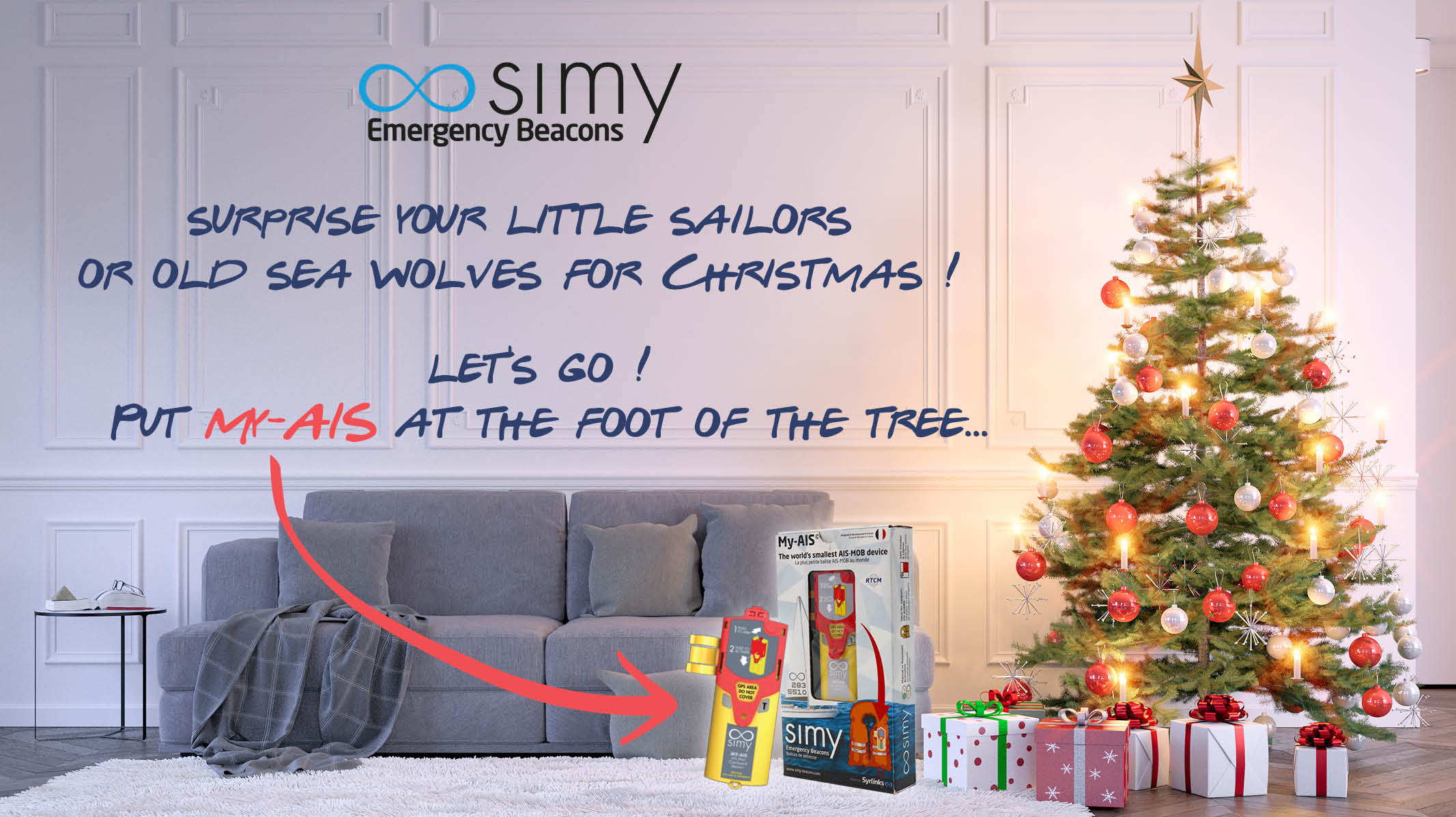christmas, gift, holidays, simy, my-ais, marine emergency beacon, sailing, yachting